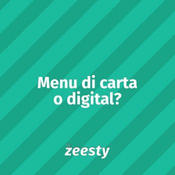 Zeesty menu digital